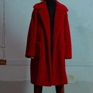 Kim Da Mi Itaewon Class Jo Yi Seo Trench Red Teddy Coat