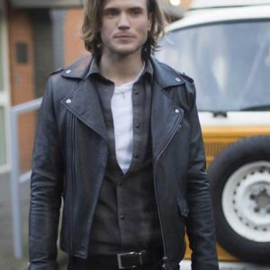 Dougie Poynter Kat And The Band Alex Black Motorcycle Leather Jacket