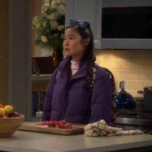 Krista Marie Yu Last Man Standing Jen Purple Puffer Jacket