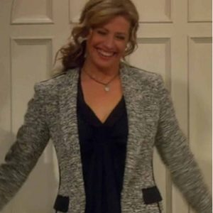 Vanessa Baxter Last Man Standing Nancy Travis Grey Tweed Blazer