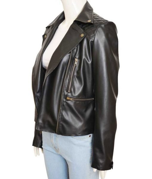 The Record Chloe Decker Leather Jacket