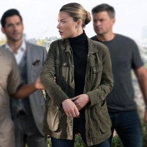 Lauren German TV-Series Lucifer Chloe Decker Green Field Jacket