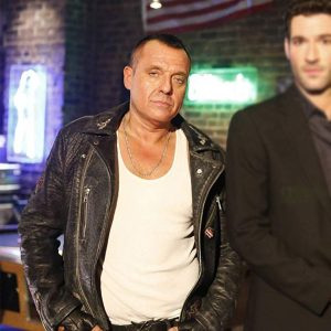 Tom Sizemore TV-series Lucifer Hank Cutter Black Leather Jacket