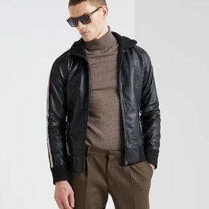 Black Slim Fit Bomber Jacket For Mens Shop with Confidence