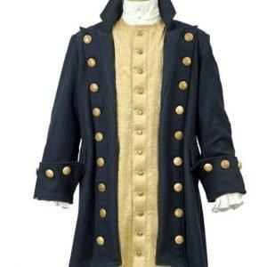 Men's Pirate Buccaneer Wool Blue Coat