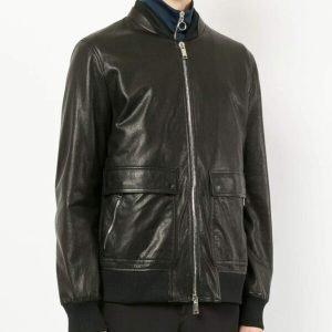 Casual Mens Slimfit Black Bomber Jacket