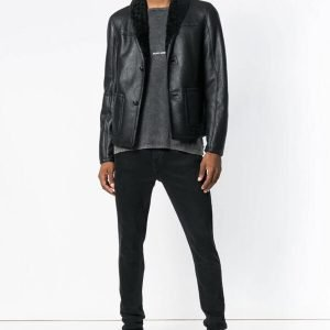 Mens Theodore Black Leather Jacket
