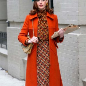 Anne Hathaway TV Series Modern Love Lexi Trench Orange Coat