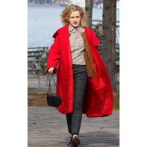 Julia Garner Modern Love Maddy Red Coat