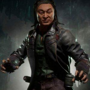 Mortal Kombat 11 Shang Tsung Black Leather Trench Coat