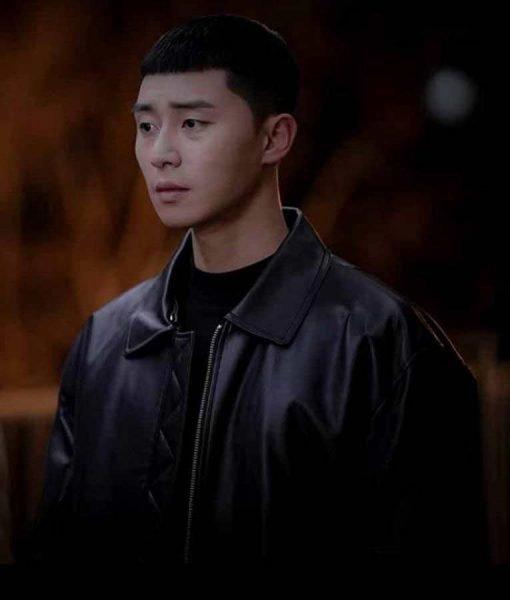 Park Seo-Joon Itaewon Class Black Leather Park Sae Ro Yi Jacket