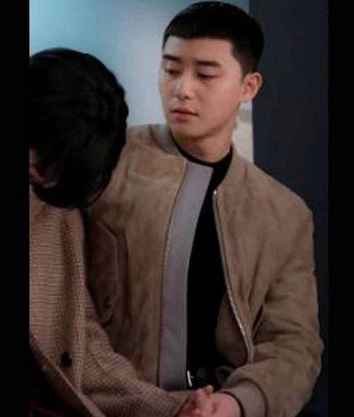 Itaewon Class Park Sae Ro Yi Leather Jacket Park Seo-Joon Bomber Jacket