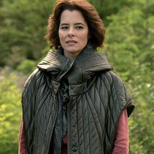 TV-Series Lost In Space Parker Posey Dr. Smith Black Quilted Vest Jacket
