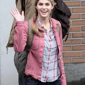Annabeth Pink Denim Percy Jackson Sea of Monsters Alexandra Daddario Jacket