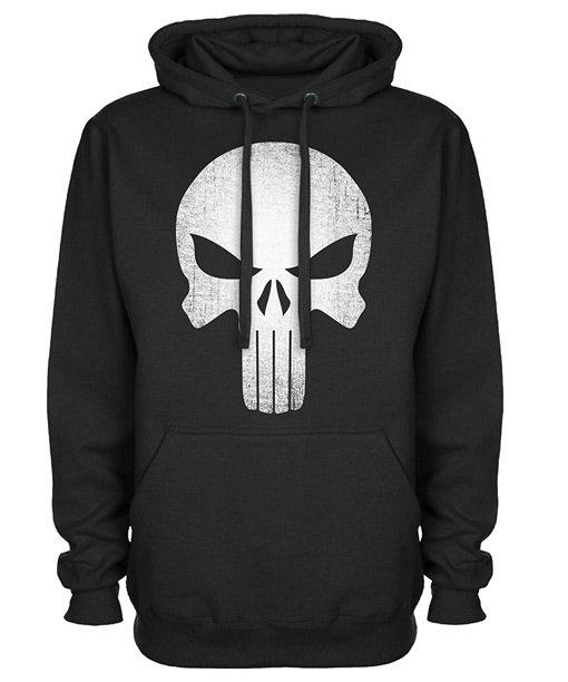 Punisher Skull Logo Black Pullover Hoodie