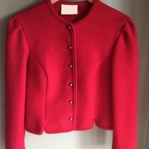 Red Tyrolean Wool Christmas Jacket