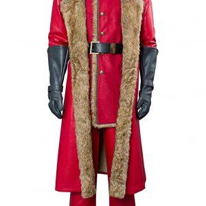 Kurt Russell The Christmas Chronicles Claus Santa Shearling Fur Coat