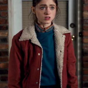 Nancy-Wheeler-Stranger-Things-Red-Fur-Jacket