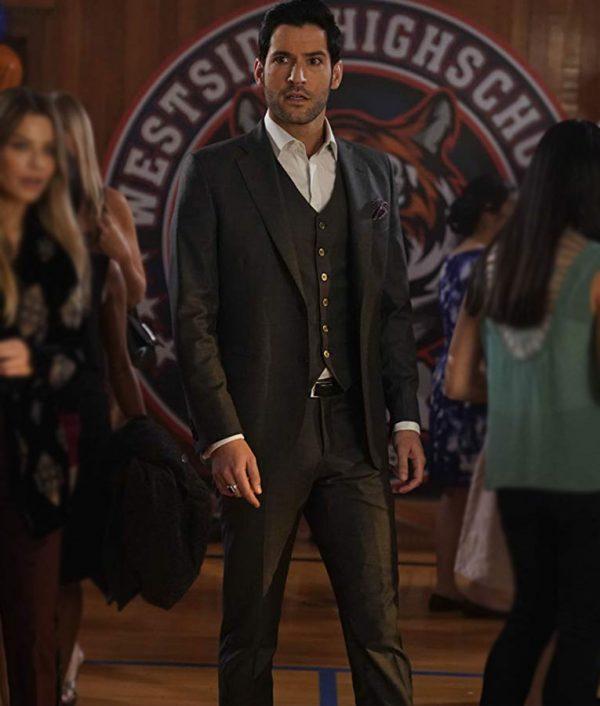 TV-Series Lucifer S03 Episode 17 Tom Ellis Morningstar Green Suit