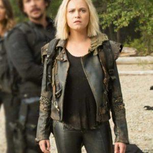 Clarke Griffin The 100 Season 07 Eliza Taylor Black Leather Jacket