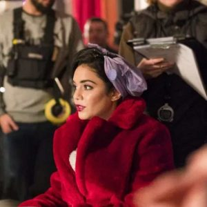 Margaret The Princess Switch: Switched Again Red Fur Vanessa Hudgens Coat