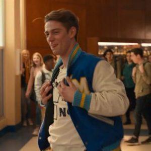 Nico Greetham The Prom Blue Letterman Nick Boomer Jacket