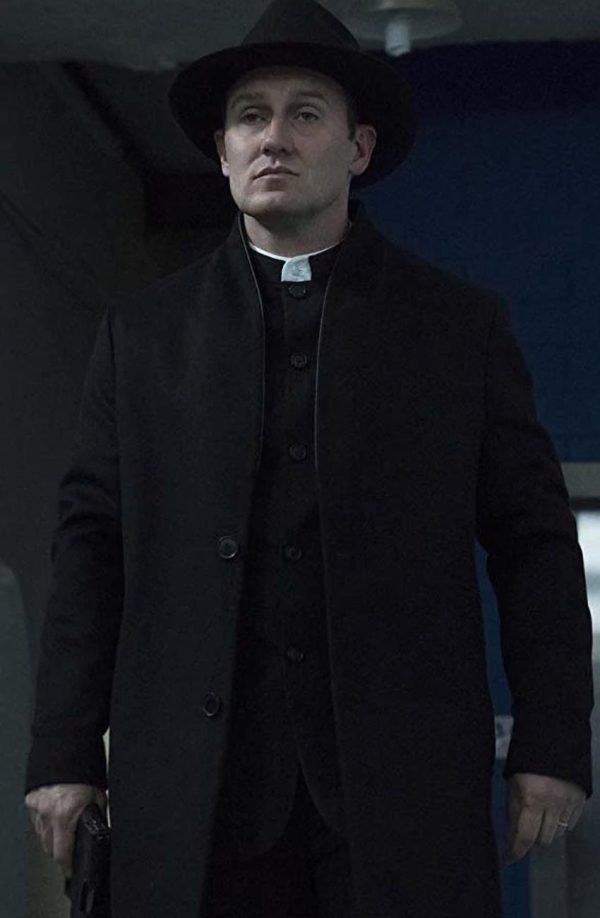 John Pilgrim The Punisher 2 Josh Stewart Black Trench Coat