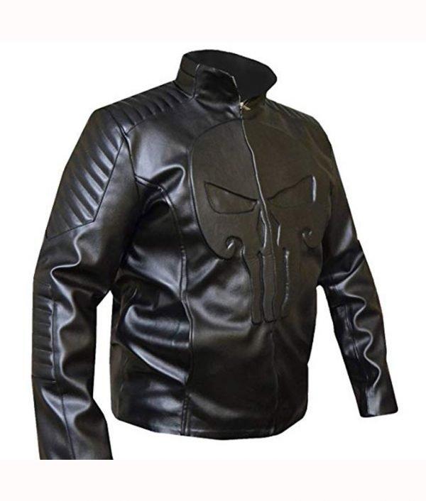 Punisher Skull Leather Jacket