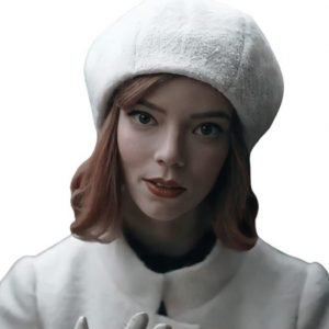 Anya Taylor-Joy The Queen's Gambit Beth Harmon White Cap