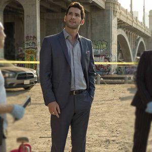TV-Series Lucifer Season 3 Tom Ellis Lucifer Morningstar Grey Suit