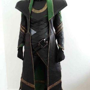Tom Hiddleston Loki 2021 Long Trench Loki Leather Coat