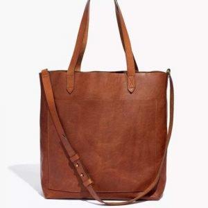 Melinda Monroe Virgin River S02 Brown Leather Tote Bag