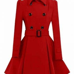 Winter's 2020 Stylish Woolen Swing Pea Coat for Women's