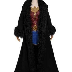 Gal Gadot Wonder Woman 1984 Princess Diana Black Cosplay Cloak