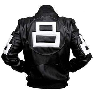 Seinfeld Michael Hoban 8 Ball Style Black Bomber Leather Jacket