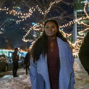Bilquis American God Season 03 Yetide Badaki Wool-blend Coat
