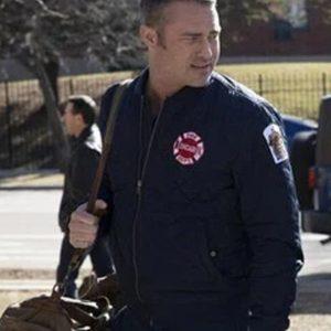 Kelly Severide TV Series Chicago P.D. Taylor Kinney Blue Bomber Jacket