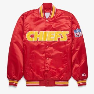 Mens and Womens Chiefs Starter Red Bomber Jacket