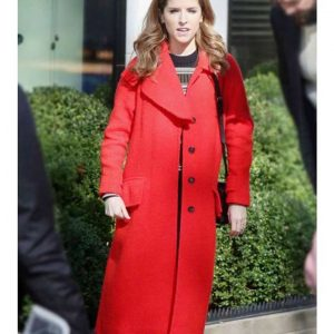 Darby Red Trench Wool Coat