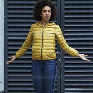 Bill Potts TV Series Doctor Who Pearl Mackie Yellow Puffer Jacket