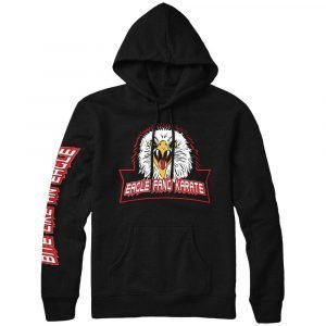 Cobra Kai Eagle Fang Karate Kid Black Hoodie