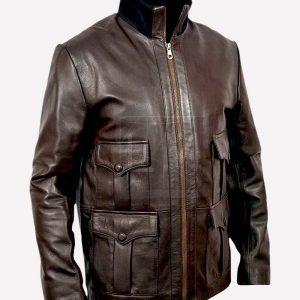 Daniel Craig Casino Royale James Bond Brown Leather Jacket