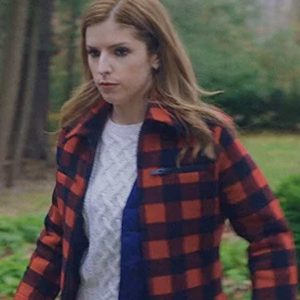 Anna Kendrick Darby Love life Red Checked Jacket