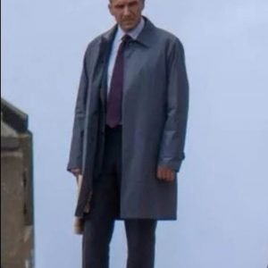 Ralph Fiennes No Time to Die Agent M Mid-Length Coat