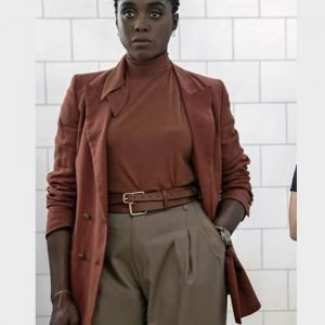 Lashana Lynch No Time to Die Double-Breasted Nomi Cotton Coat