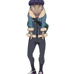 Pokémon Sword and Shield Hop Blue Jacket with Shearling Trim