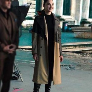 Gal Gadot Red Notice Double-Breasted Trench Coat