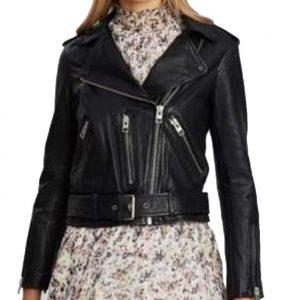 Betty Cooper Riverdale Season 05 Lili Reinhart Black Cropped Leather Jacket