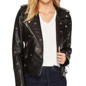 Lili Reinhart TV Series Riverdale S05 Betty Cooper Black Leather Studded Jacket