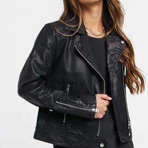 Vanessa Morgan Riverdale Season 05 Toni Topaz Black Leather Biker Jacket
